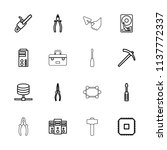hardware icon. collection of 16 ... | Shutterstock .eps vector #1137772337
