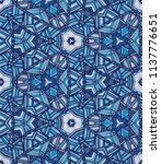 vector seamless ethnic pattern... | Shutterstock .eps vector #1137776651
