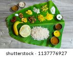 traditional onam sadya   feast... | Shutterstock . vector #1137776927