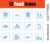 set of food icons. blue frame... | Shutterstock .eps vector #1137779681