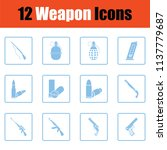 set of twelve weapon icons.... | Shutterstock .eps vector #1137779687