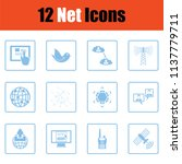 communication icon set.  blue... | Shutterstock .eps vector #1137779711
