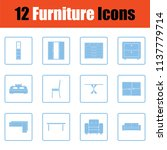 home furniture icon set. blue... | Shutterstock .eps vector #1137779714