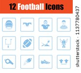 american football icon. blue... | Shutterstock .eps vector #1137780437