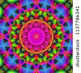 decorative patterns in retro... | Shutterstock . vector #1137786341