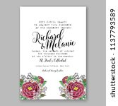 wedding invitation design... | Shutterstock .eps vector #1137793589
