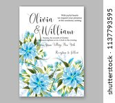wedding invitation design... | Shutterstock .eps vector #1137793595