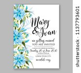 wedding invitation design... | Shutterstock .eps vector #1137793601