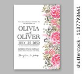 wedding invitation template... | Shutterstock .eps vector #1137793661