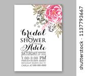 wedding invitation template... | Shutterstock .eps vector #1137793667