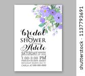 wedding invitation design... | Shutterstock .eps vector #1137793691