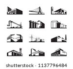 various types of industrial... | Shutterstock .eps vector #1137796484