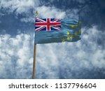 tuvalu flag silk waving flag of ... | Shutterstock . vector #1137796604