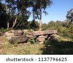 landscape of prasat yai ngao... | Shutterstock . vector #1137796625