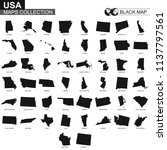 maps collection of usa states ... | Shutterstock .eps vector #1137797561