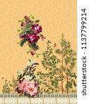 flower  horizontal border   Shutterstock . vector #1137799214