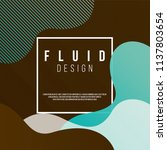fluid design square cover with... | Shutterstock .eps vector #1137803654