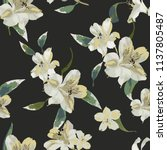 seamless pattern with  flowers... | Shutterstock .eps vector #1137805487