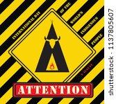industrial symbol   attention... | Shutterstock .eps vector #1137805607