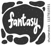 fantasy. sticker for social... | Shutterstock .eps vector #1137810551