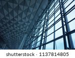 the steel structure of the... | Shutterstock . vector #1137814805