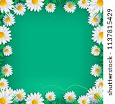 spring border background with... | Shutterstock .eps vector #1137815429