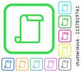 blank paper scroll vivid... | Shutterstock .eps vector #1137819761