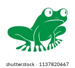 Frog Graphic Icon. Frog Green...