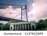 the vidyasagar setu or  second... | Shutterstock . vector #1137822899