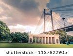 the vidyasagar setu or  second... | Shutterstock . vector #1137822905