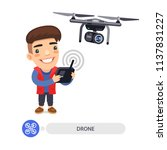 cartoon flat male character... | Shutterstock .eps vector #1137831227