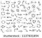hand drawn arrows.vector arrows ... | Shutterstock .eps vector #1137831854