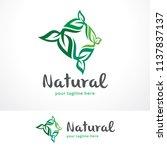 leaves logo template design ... | Shutterstock .eps vector #1137837137