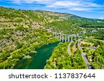 the cize bolozon rail and road... | Shutterstock . vector #1137837644