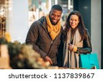 front view of a couple standing ... | Shutterstock . vector #1137839867