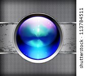 techno background with glossy... | Shutterstock .eps vector #113784511
