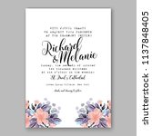 floral wedding invitation ... | Shutterstock .eps vector #1137848405