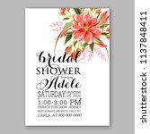 floral wedding invitation ... | Shutterstock .eps vector #1137848411