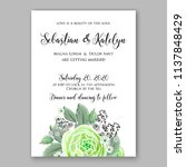 floral wedding invitation ... | Shutterstock .eps vector #1137848429