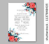 floral wedding invitation ... | Shutterstock .eps vector #1137848435
