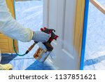 house repair paint the wooden... | Shutterstock . vector #1137851621