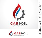 gas and oil logo template... | Shutterstock .eps vector #1137853421