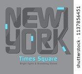 new york city typography design ... | Shutterstock .eps vector #1137856451