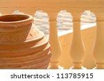 Traditional Greek vase - stock photo