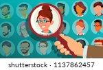 human recruitment vector. woman.... | Shutterstock .eps vector #1137862457