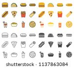 fast food line icon | Shutterstock .eps vector #1137863084