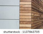 concrete wooden facade. modern... | Shutterstock . vector #1137863705