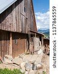 farm architecture in village... | Shutterstock . vector #1137865559