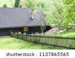 farm architecture in village... | Shutterstock . vector #1137865565