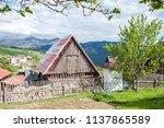 farm architecture in village... | Shutterstock . vector #1137865589